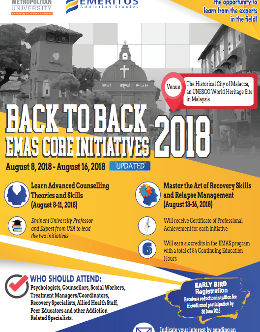 Upcoming Event – Back to Back EMAS Initiatives in Malacca, Malaysia